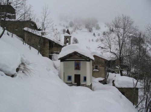 Castelmagno - Finalmente giunti nell'ambiente intatto, alla purificazione... ma che fatica con le ciastre!