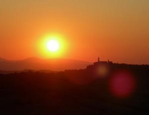 Il profilo della Cattedrale al tramonto