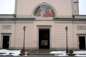 """Parrocchia Santa Margherita """"Dettalio della facciata"""""""