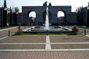 La fontana della piazza del Cimitero