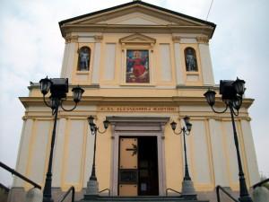 """La parrocchia di S.s. Alessandro e Martino """"Particolare della Facciata"""""""