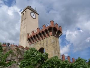 Particolare del campanile della chiesa di Monterchi