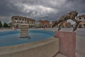 La fontana con i cervi