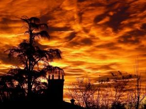 S.Caterina in un'alba di fuoco