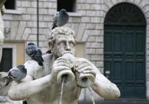 Fontana e ospiti …