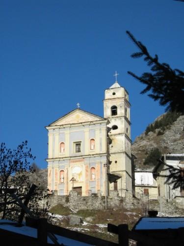 Castelmagno - La chiesa di San Bernardo a Chiotti