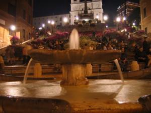 Particolare della Fontana della Barcaccia-Roma