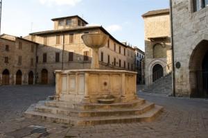 Fontana a piazza Silvestri a Bevagna