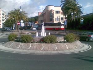 piazzale della stazione di Albenga