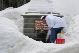 Acqua fresca sotto la neve