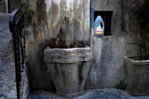 la fontana e il sapone
