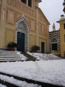 San Francesco d'Albaro con la neve