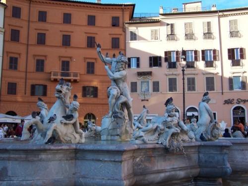 Roma - Fontana del Nettuno, piazza Navona
