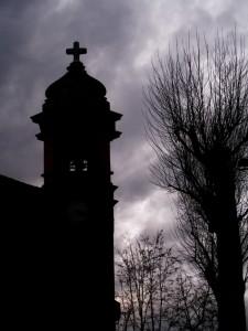 Chiesetta di via Monte… tornando a casa - silouette del campanile