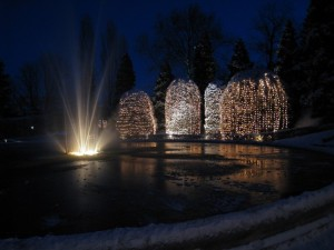 All'imbrunire - Fontana Giardini Estensi