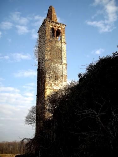 Castellazzo Novarese - Campanile della chiesa dei Moscerini