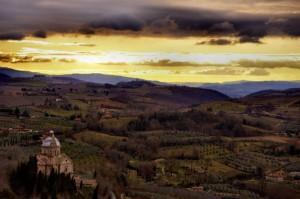 San Biagio dal centro storico di Montepulciano