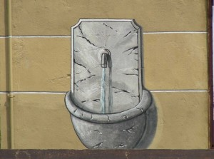 Fontana dipinta in Piazza Pugliese Levi (via Verdi)