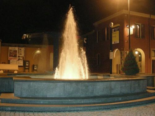 Tricerro - Notturno Fontana in Piazza Cavour