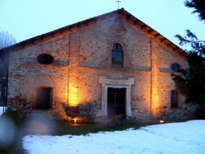 pioggia su Santa Maria del Monastero