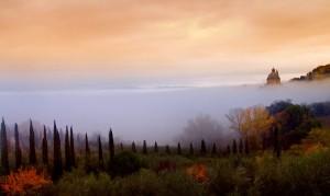 San Biagio in autunno con nebbia