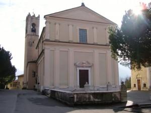 facciata della parrocchiale di pieve