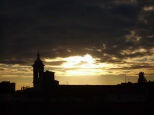Tramonto sulla chiesa di S. Maria
