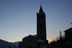 ..il sole è ormai dietro al Monte Bianco..
