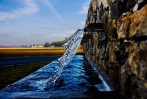 Particolare della  fontana di Uliveto terme