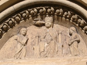 Abbazia di Vezzolano - Particolare del portale