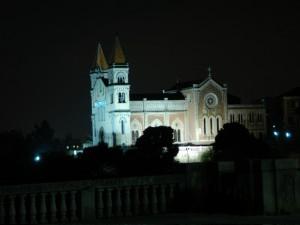 Il Santuario di Montalto  in notturna