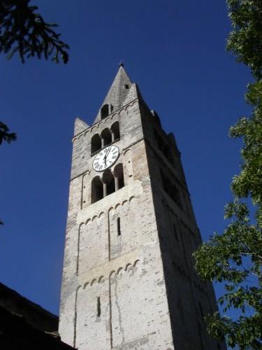 Cesana Torinese - campanile della chiesa San Giovanni Battista, Cesana Torinese