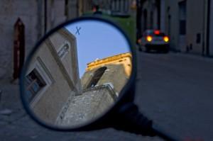 Riflesso di Santa Maria della piazza…….
