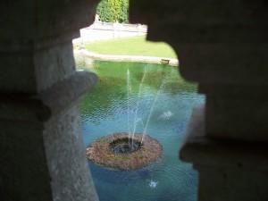 Reggia di Caserta fontana vista dall'alto