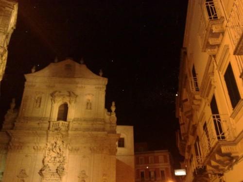 Taranto - LA BASILICA DI SAN MARTINO con fiocchetti di neve