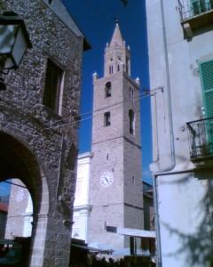 La torre campanaria della collegiata di S.Maria in Platea