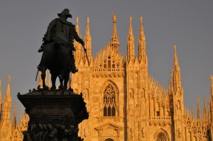 Tramonto in piazza Duomo