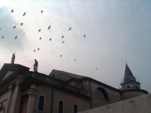 Chiesa di San Martino - Peschiera del Garda: volo verso l'alto
