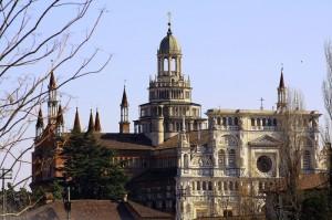 La Certosa di Pavia d'inverno