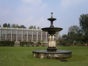 fontana nel parco del castello di Racconigi