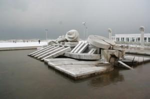 La Nave di Cascella…. dopo la nevicata a Pescara