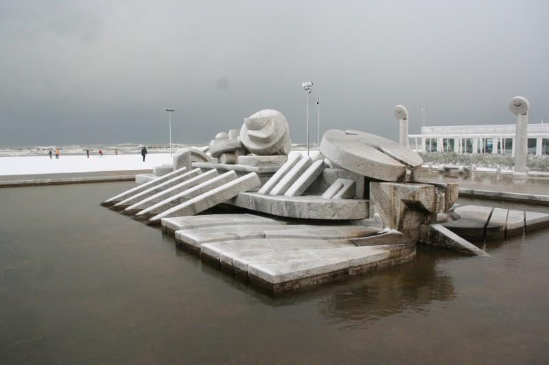 ''La Nave di Cascella…. dopo la nevicata a Pescara'' - Pescara