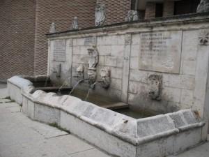 La fontana dell'acquedotto romano