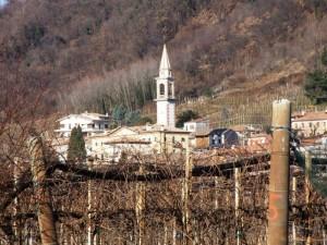 panorama con campanile in S.Vito di Valdobbiadene