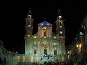 Basilica di Santo Stefano di notte - Lavagna