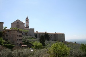 Panorama con Basilica di Santa Chiara