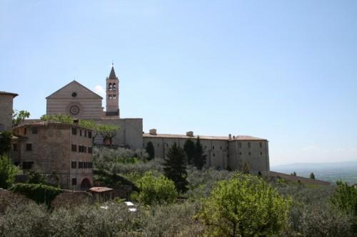 Assisi - Panorama con Basilica di Santa Chiara