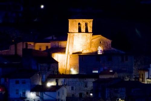 Campolieto - San Michele Arcangelo di notte