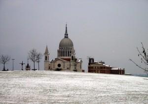 Santuario di San Giovanni Bosco d'inverno