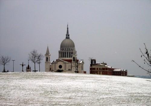 Castelnuovo Don Bosco - Santuario di San Giovanni Bosco d'inverno